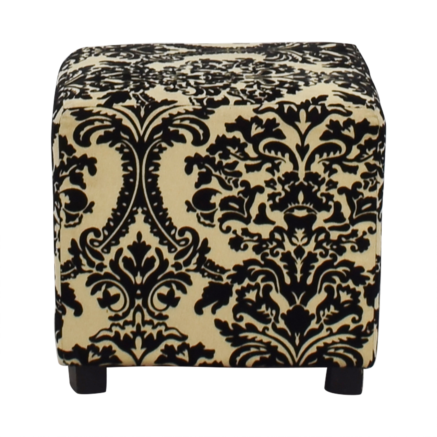 Bed Bath & Beyond Bed Bath & Beyond Black & White Ottoman for sale