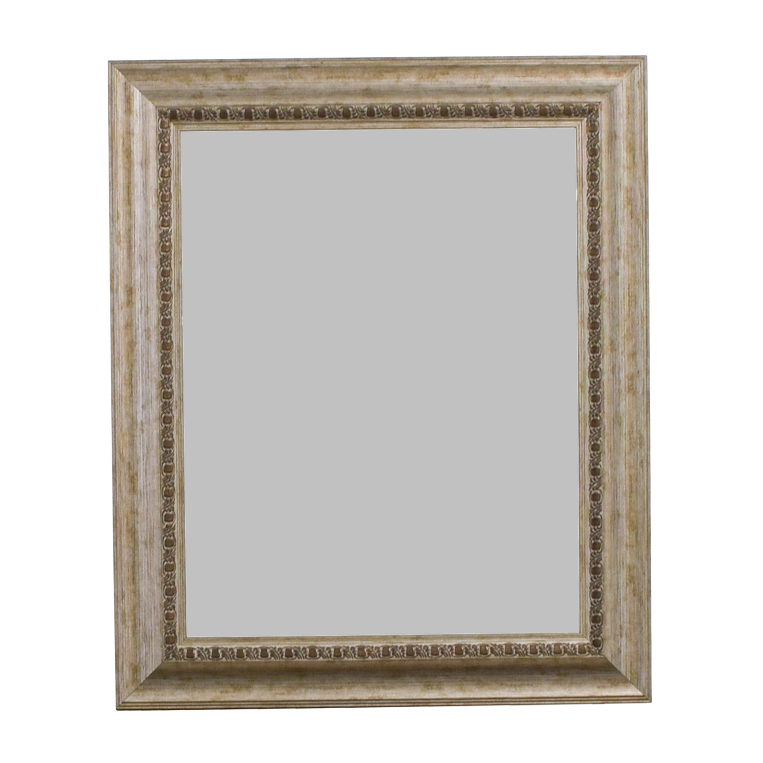 Brown and Silver Framed Wall Mirror