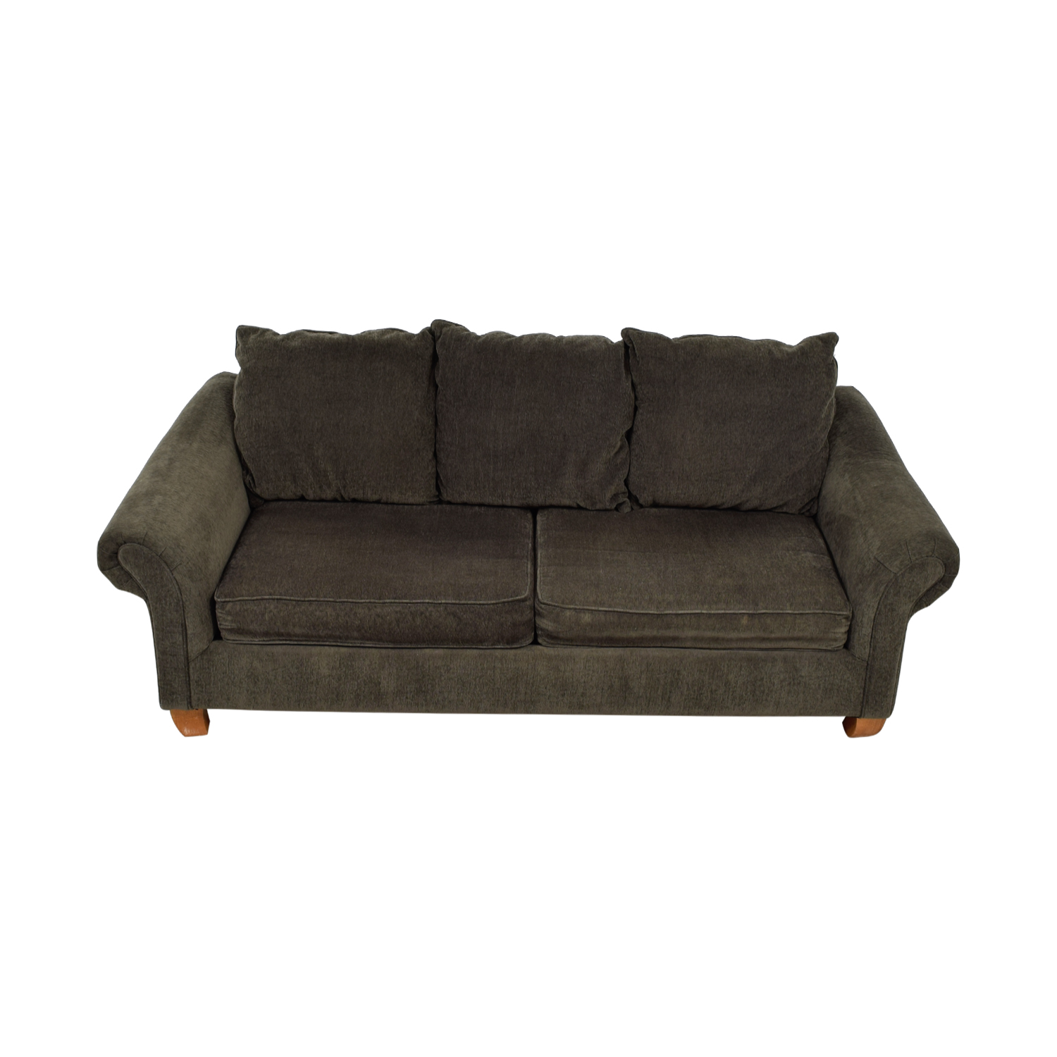 buy Hughes Furniture Brown Two-Cushion Curved Arm Sofa Hughes Furniture Sofas
