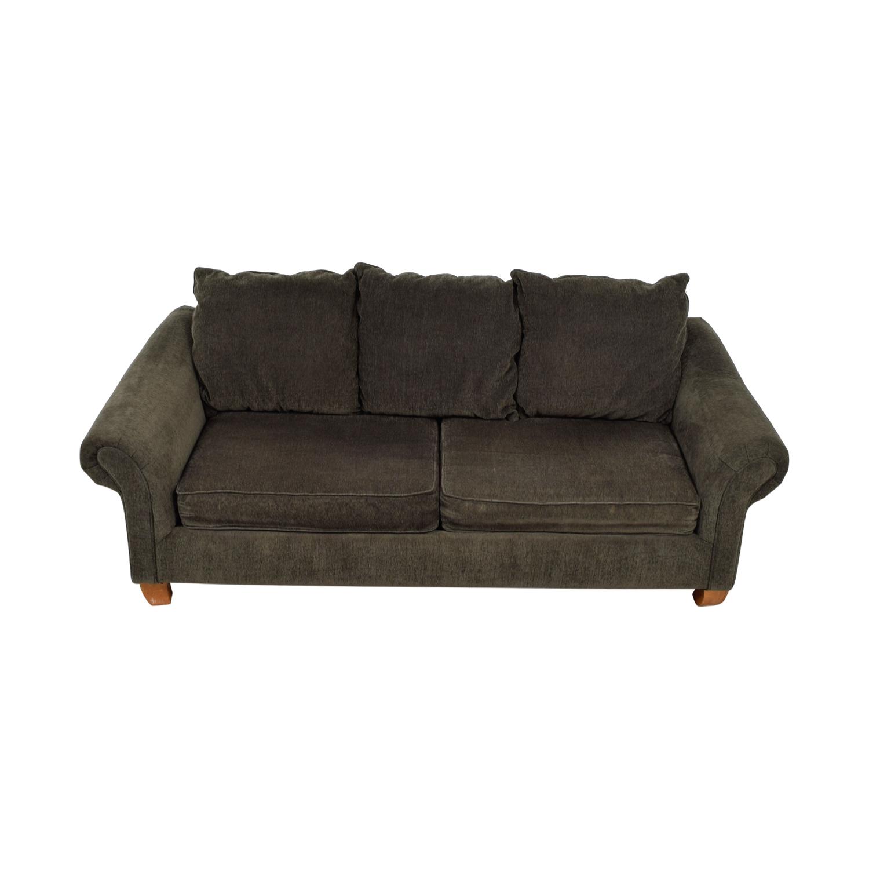 buy Hughes Furniture Brown Two-Cushion Curved Arm Sofa Hughes Furniture Sofas