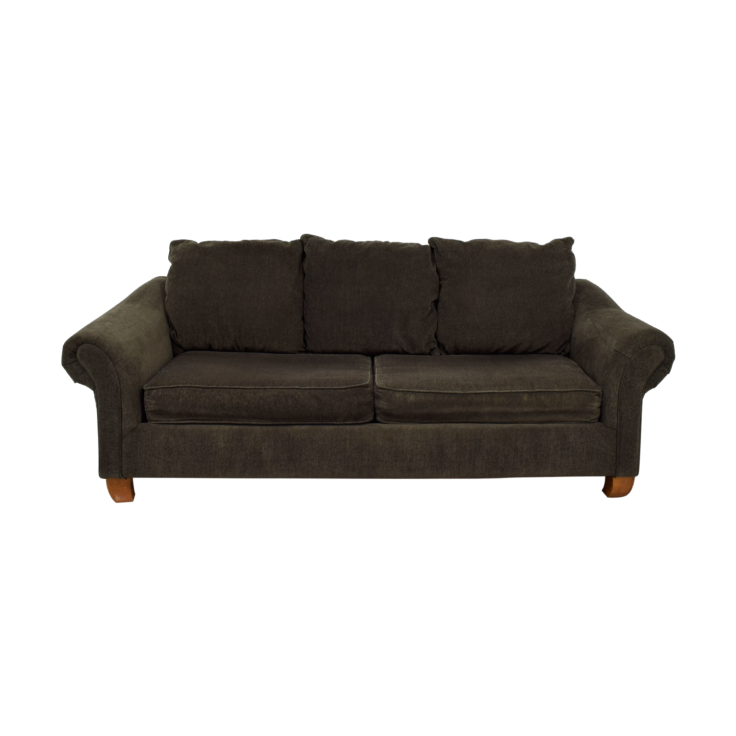 Hughes Furniture Hughes Furniture Brown Two-Cushion Curved Arm Sofa nyc