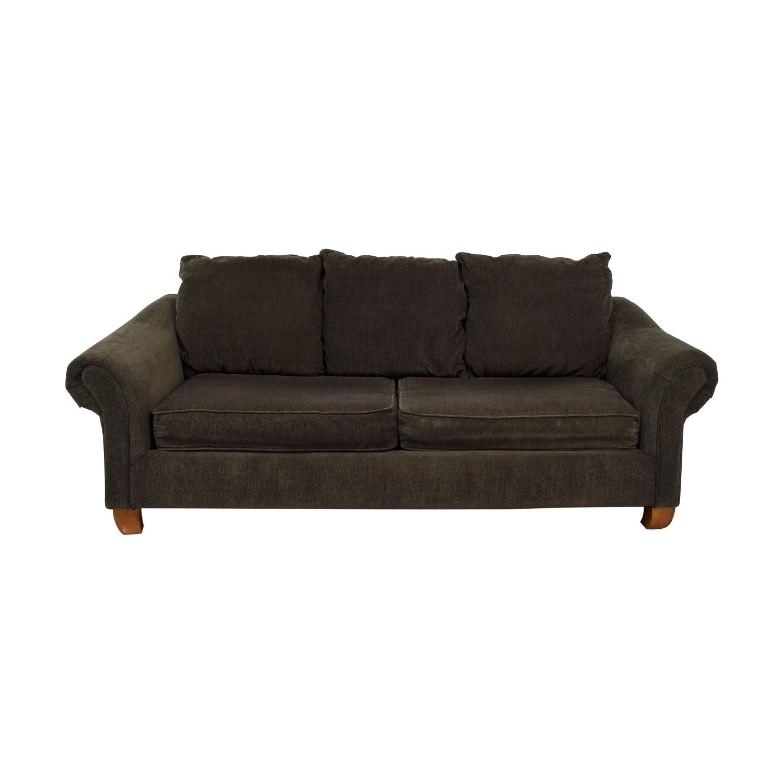 Hughes Furniture Hughes Furniture Brown Two-Cushion Curved Arm Sofa nyc