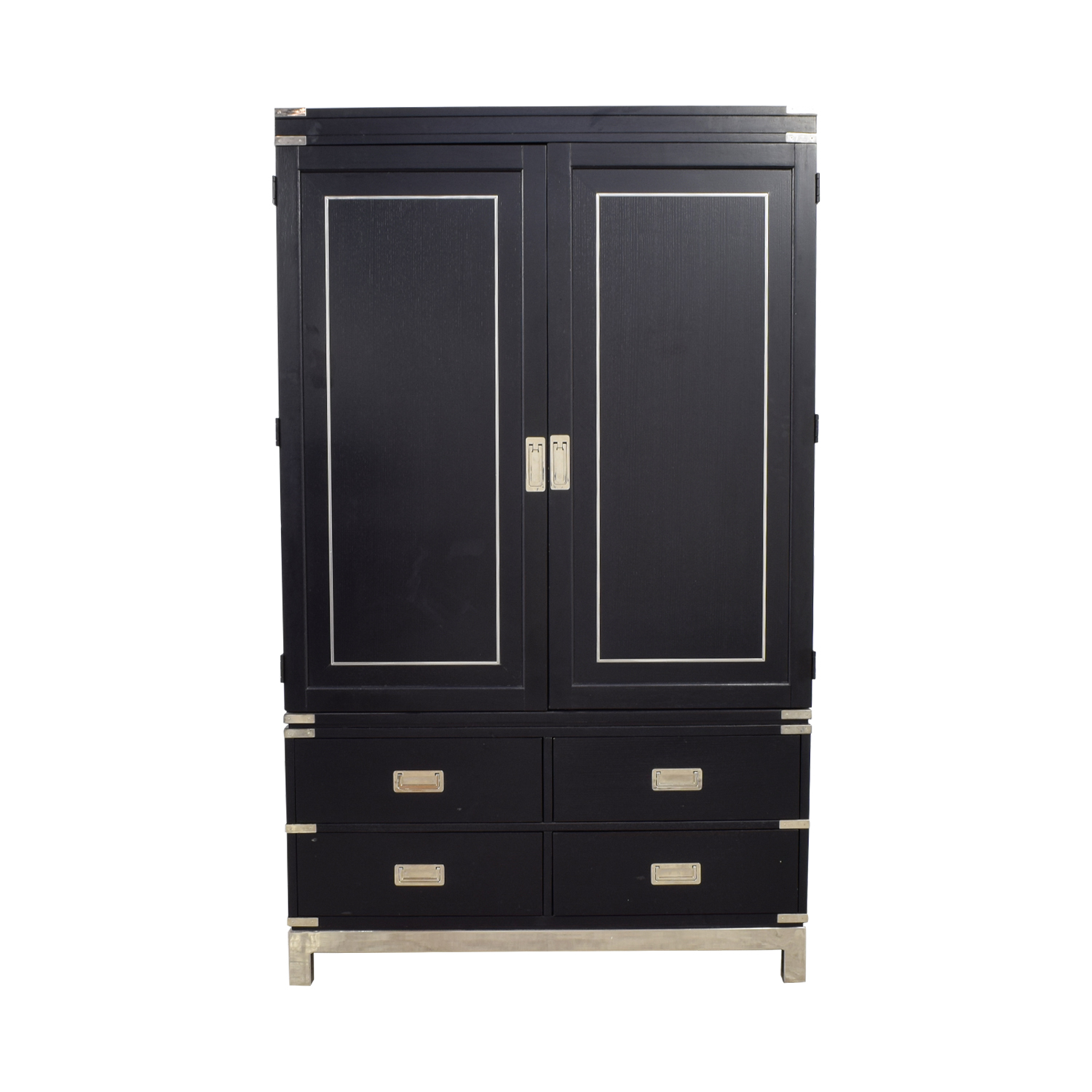 buy Black Eight-Drawer Wardrobe Armoire  Storage