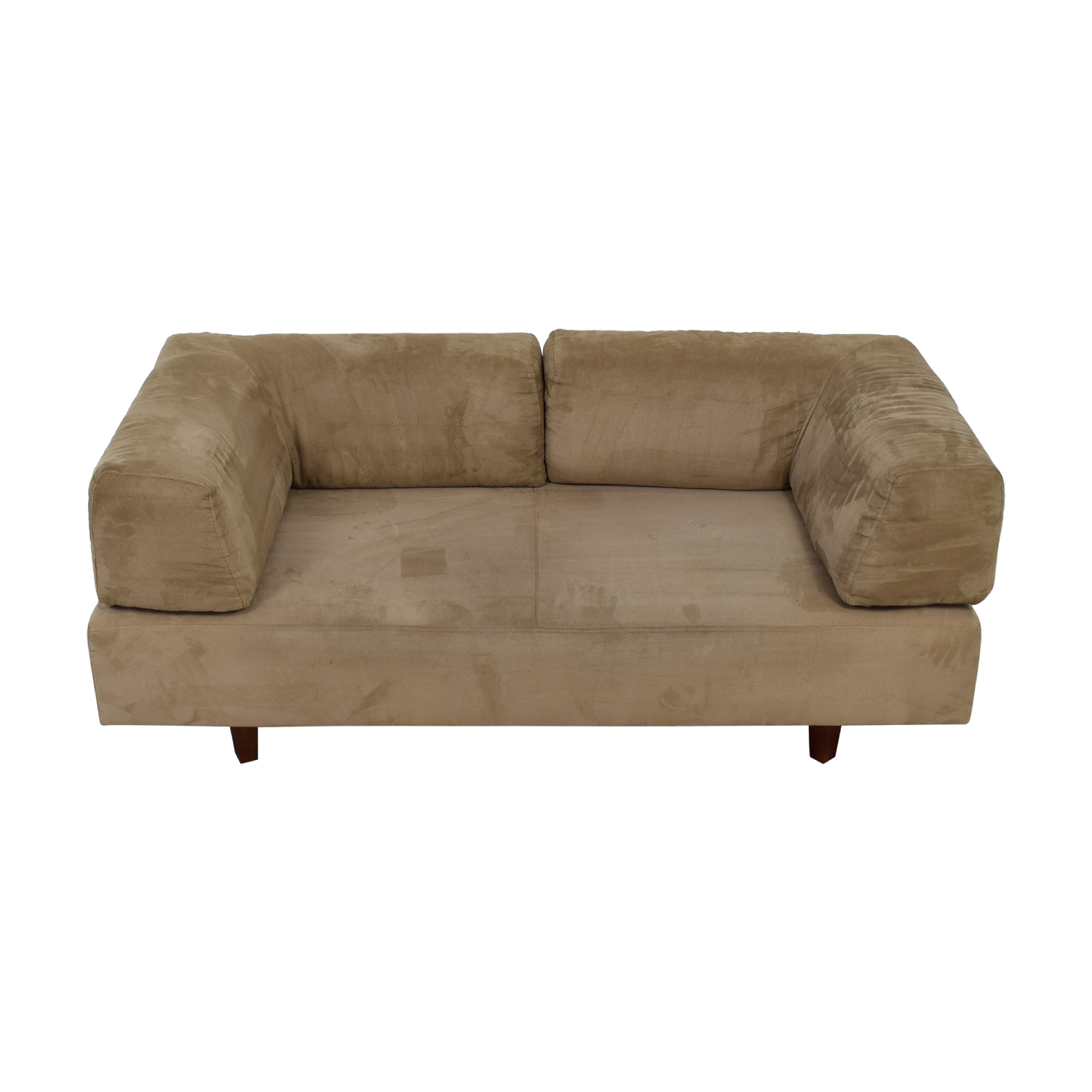 West Elm West Elm Beige Sofa with Removable Back Cushions dimensions