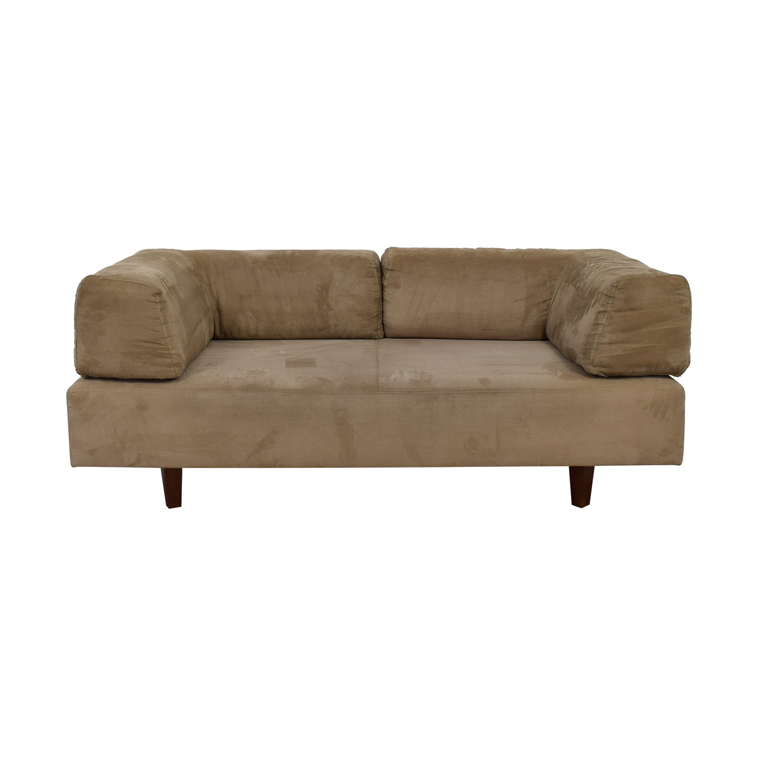 West Elm West Elm Beige Sofa with Removable Back Cushions second hand