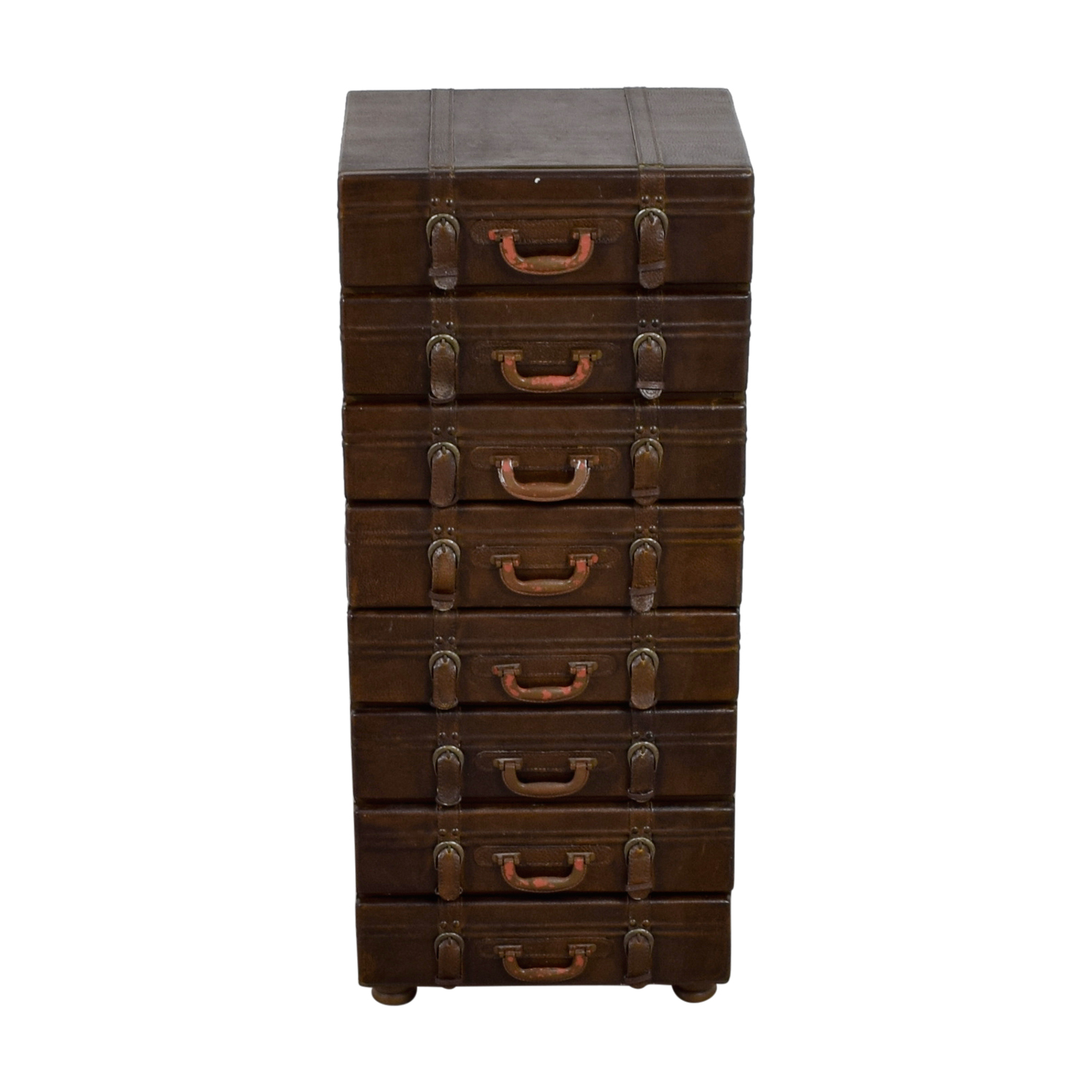 Vintage Artist's Eight Drawer Leather Cabinet price