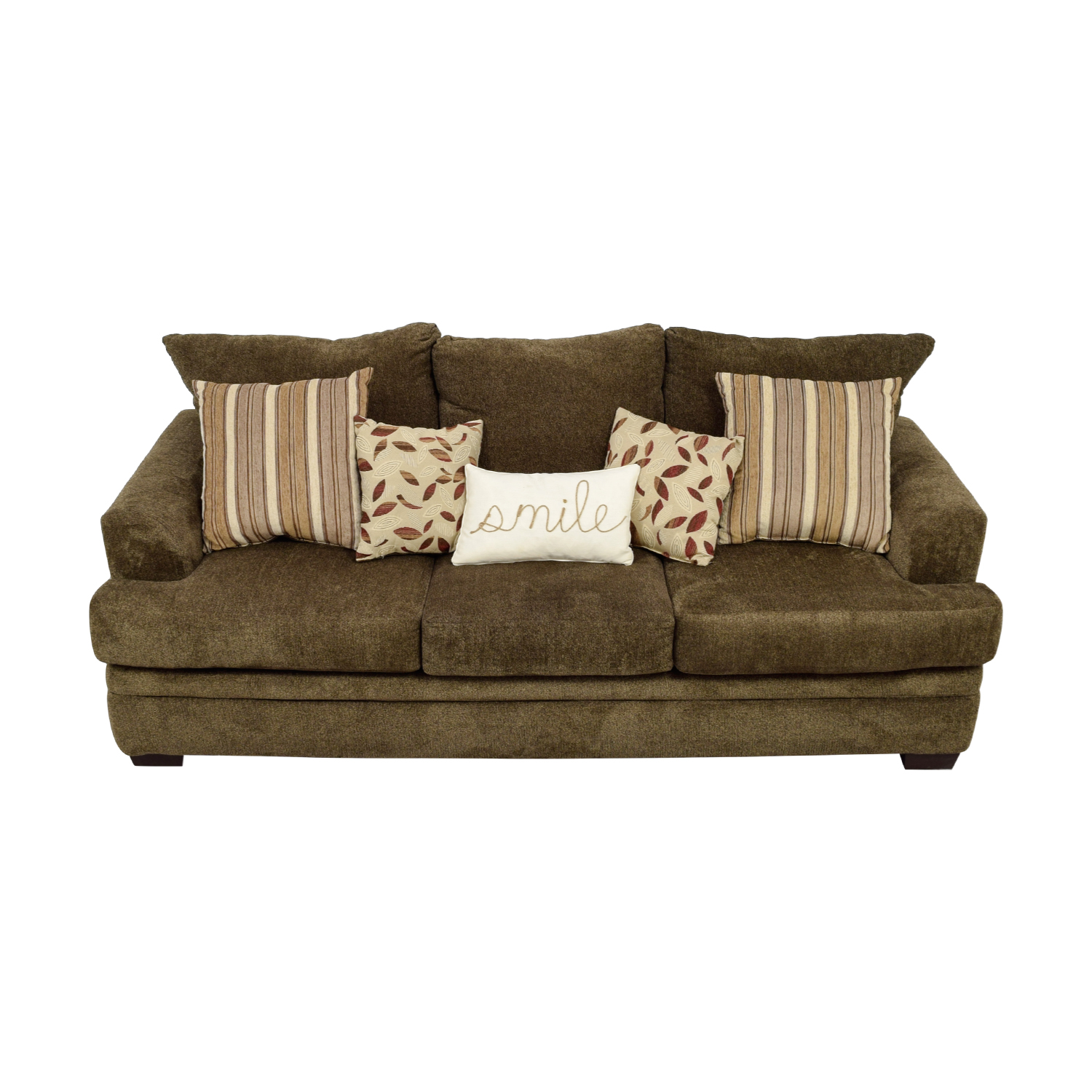 Bob's Furniture Bob's Furniture Miranda Brown Three-Cushion Sofa