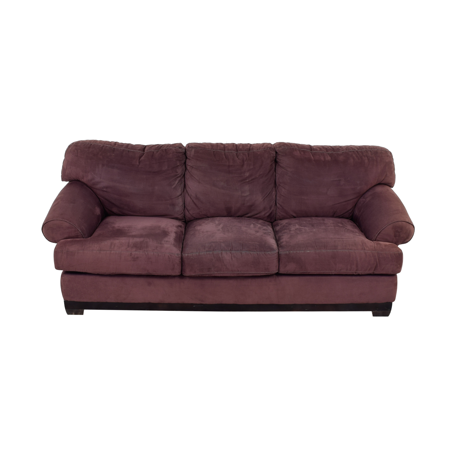 Macy's Macy's Plum Three-Cushion Sofa nj