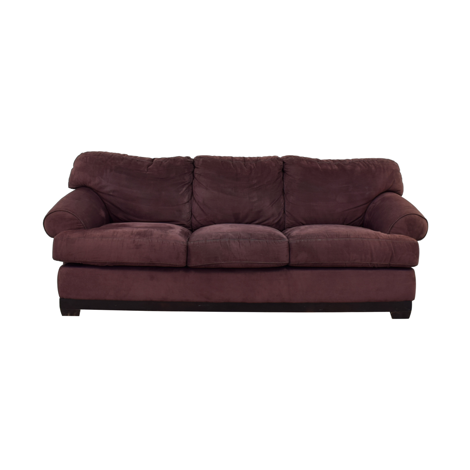 Macy's Macy's Plum Three-Cushion Sofa