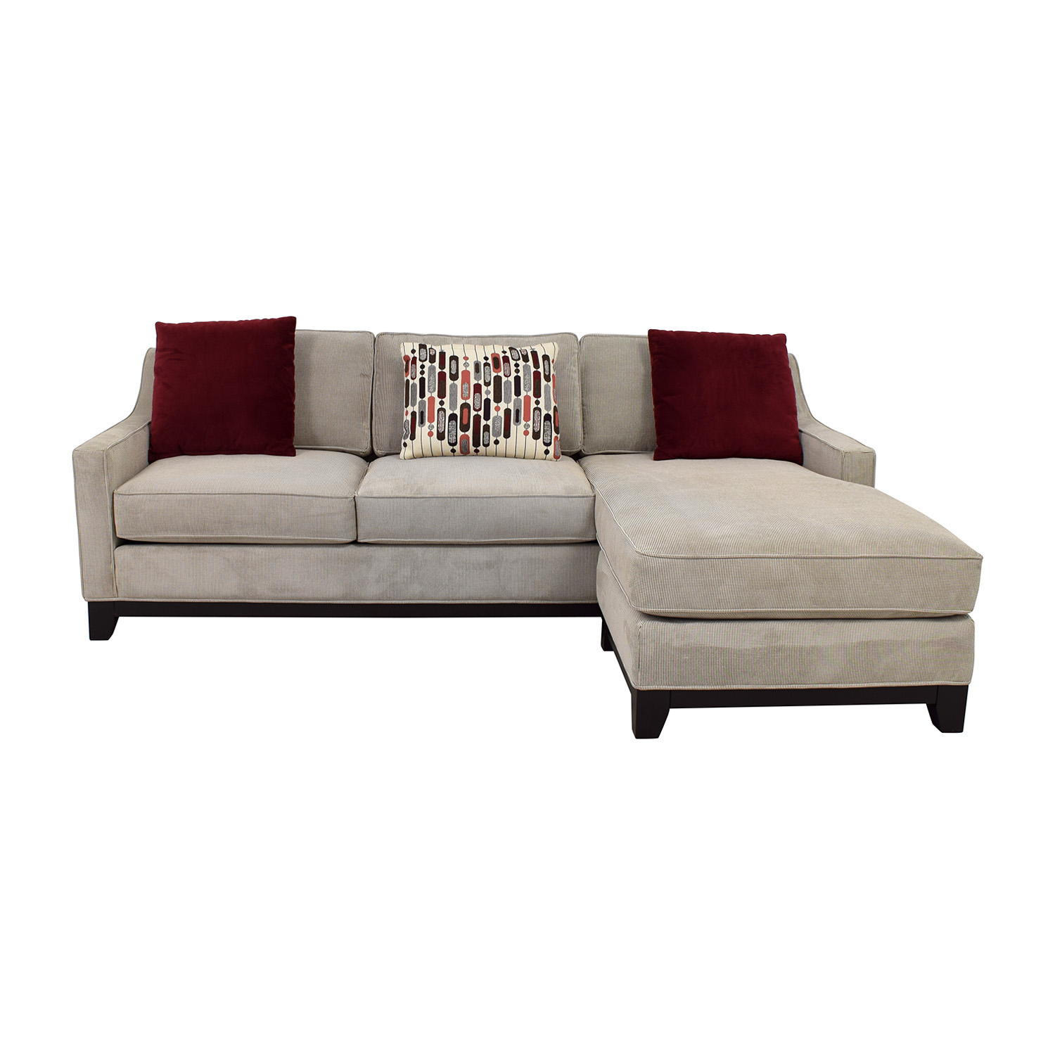 shop Kerridon Collection Grey Tweed Chaise Sectional Kerridon Collection Sofas