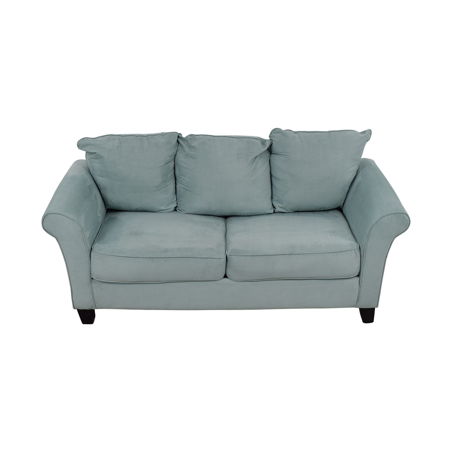 Beachcrest Home Beachcrest Home Paget Blue Two-Cushion Sofa nj
