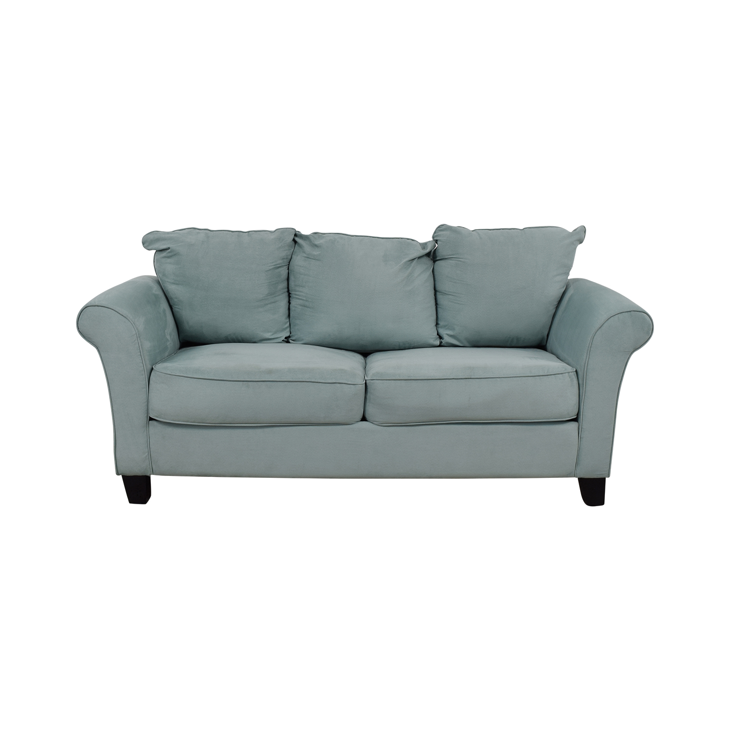 shop Beachcrest Home Paget Blue Two-Cushion Sofa Beachcrest Home Classic Sofas