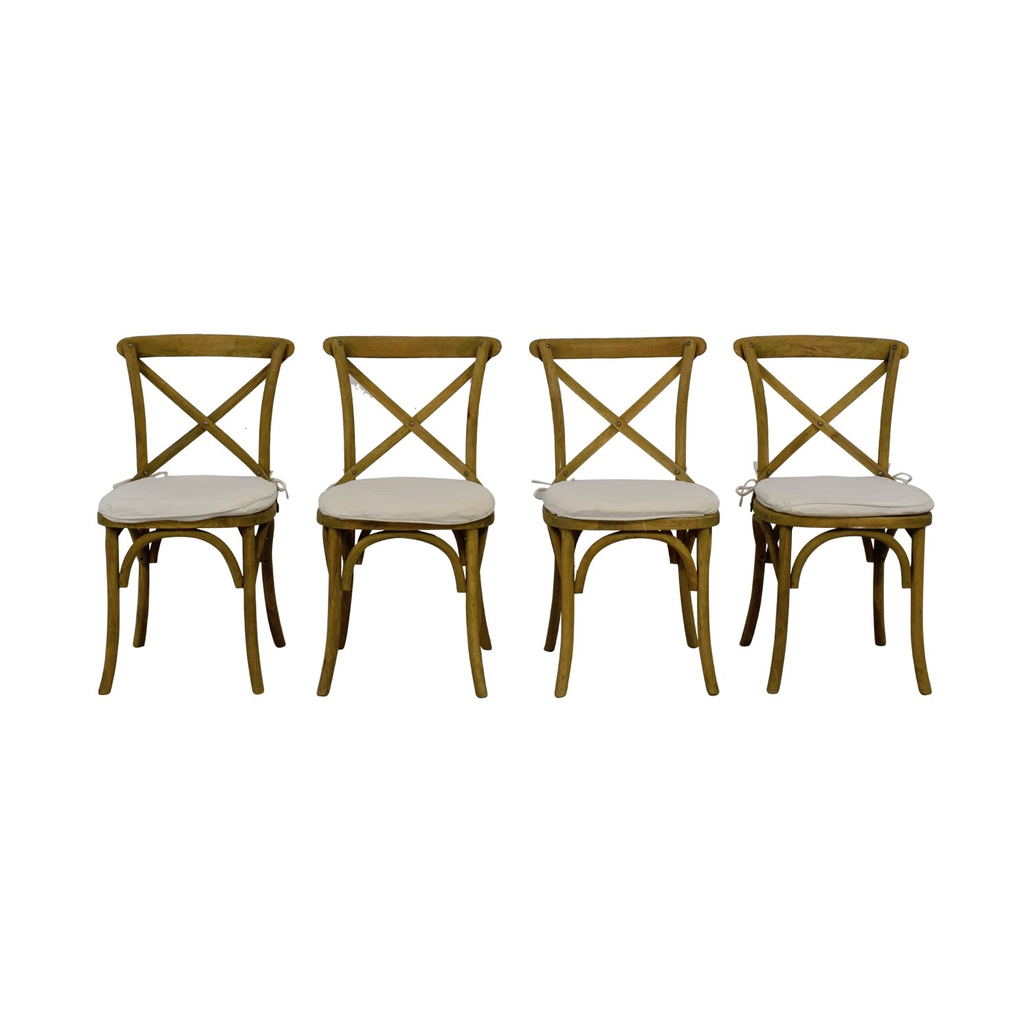 shop Restoration Hardware Madeleine Withered Oak Drifted Wood Chairs with Cushion Restoration Hardware Chairs