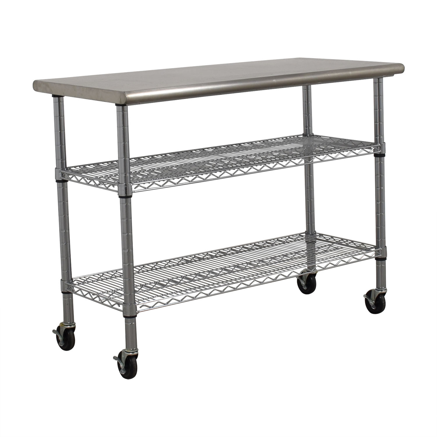 Home Depot Home Depot Stainless Steel Utility Cart on Wheels nyc