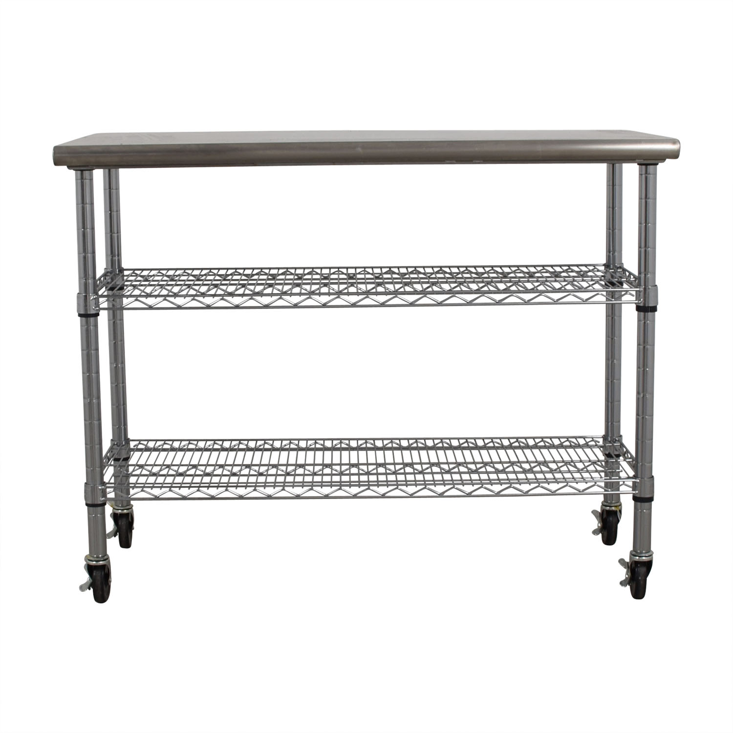Home Depot Stainless Steel Utility Cart On Wheels Tables
