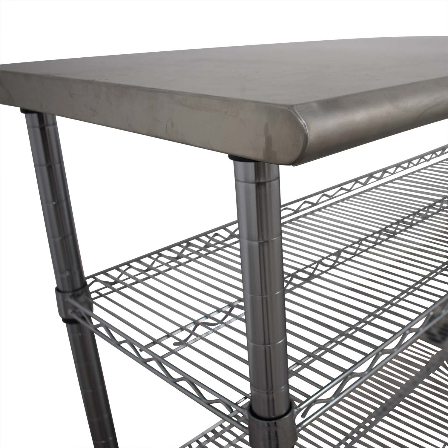 Home Depot Stainless Steel Utility Cart on Wheels / Tables