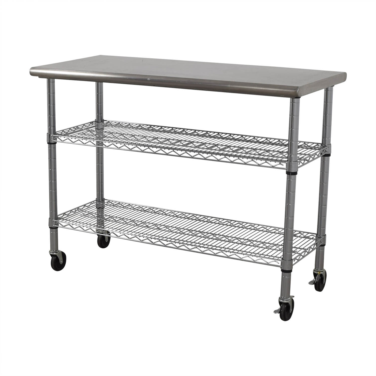 buy Home Depot Stainless Steel Utility Cart on Wheels Home Depot Utility Tables