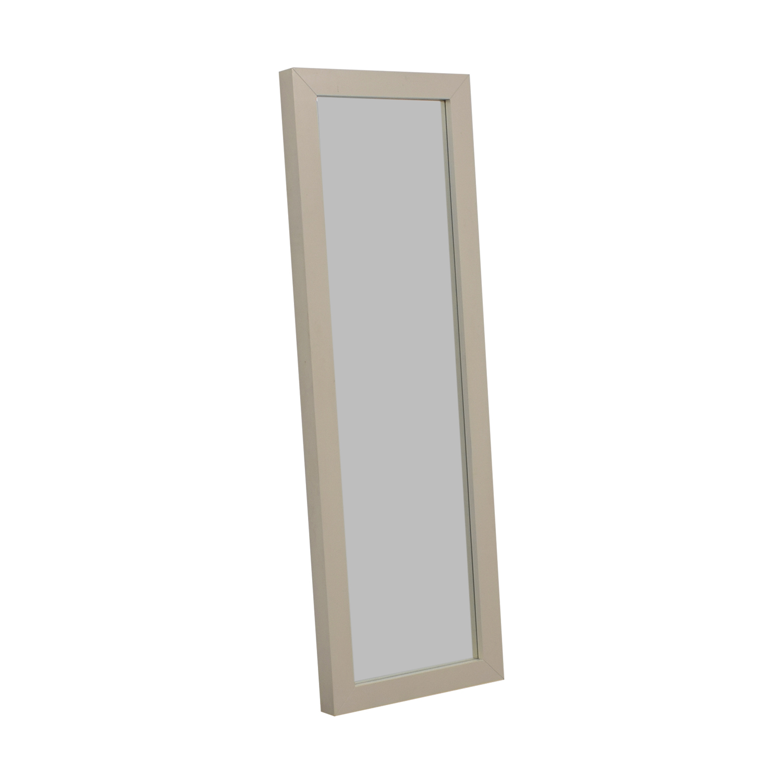 West Elm West Elm Parsons White Floor Mirror for sale