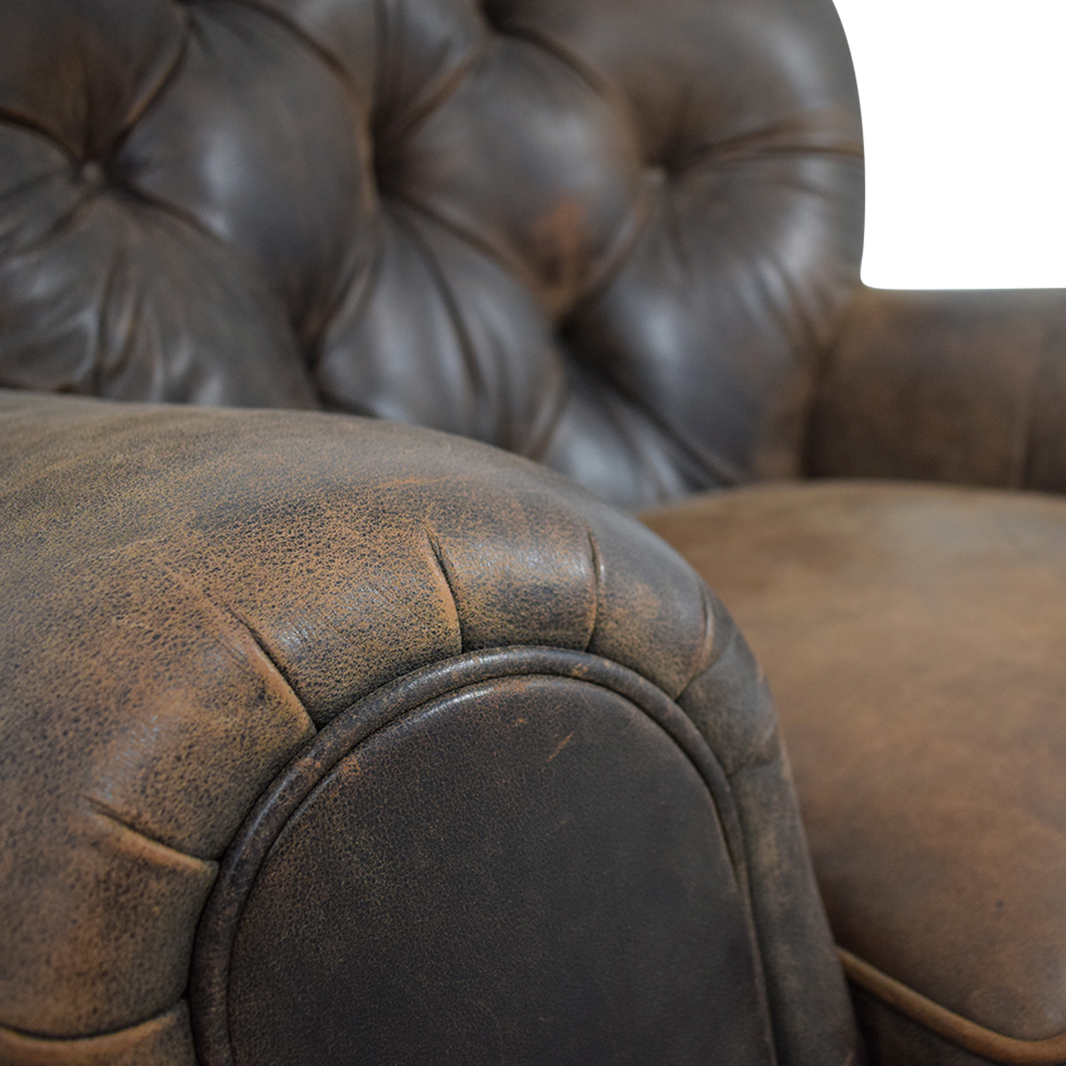 Pleasing 88 Off Restoration Hardware Restoration Hardware Churchill Brown Leather Tufted Nailhead Chair Chairs Ocoug Best Dining Table And Chair Ideas Images Ocougorg