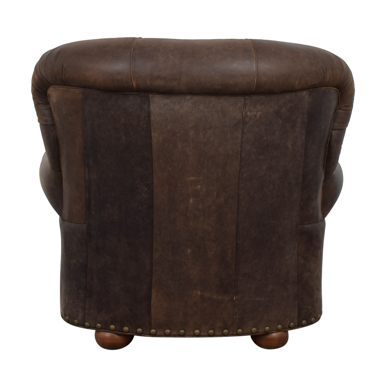 Restoration Hardware Restoration Hardware Churchill  Brown Leather Tufted Nailhead Chair price