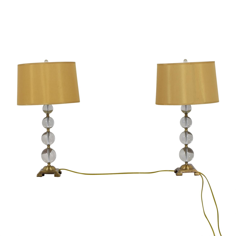 Neiman Marcus Glass Globe Lamps / Decor