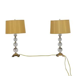 Neiman Marcus Neiman Marcus Glass Globe Lamps for sale