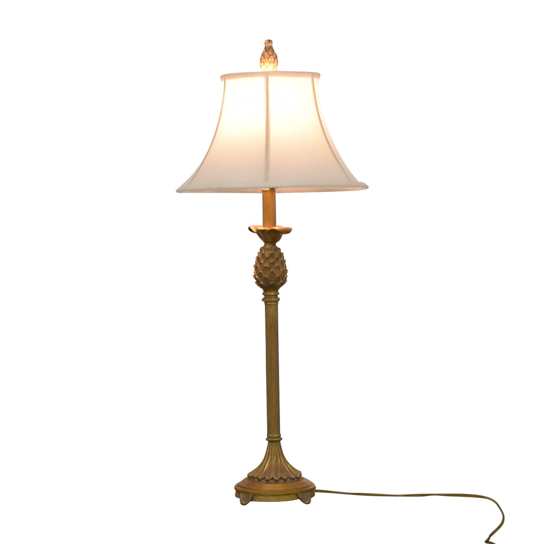 Vintage Brass Pineapple Lamp Decor