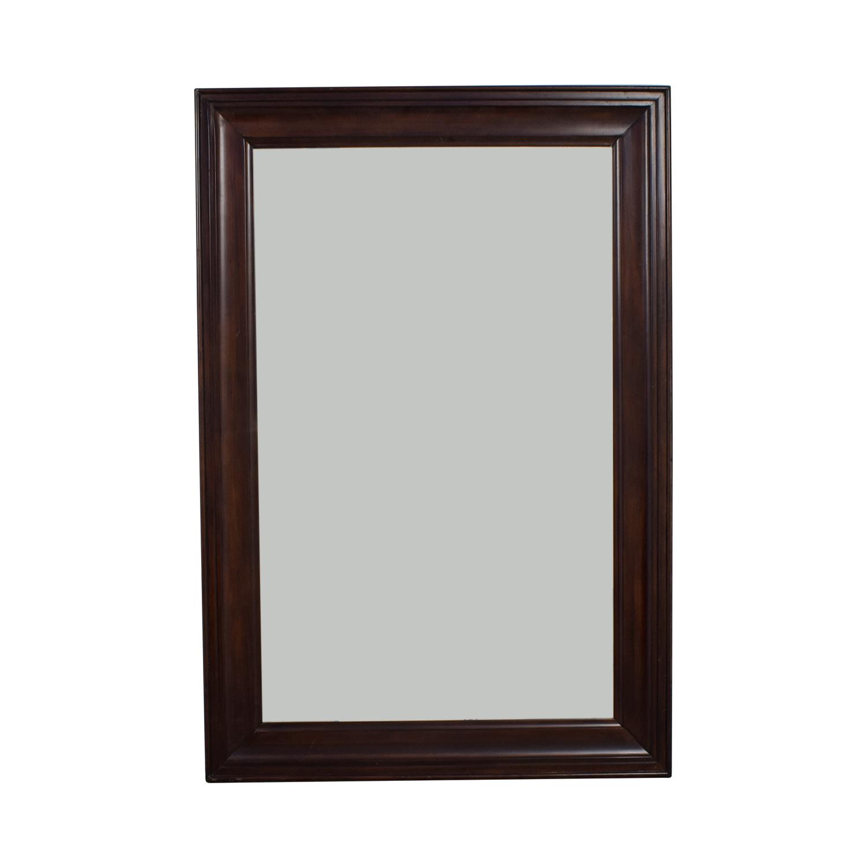 Wood Framed Floor Mirror for sale