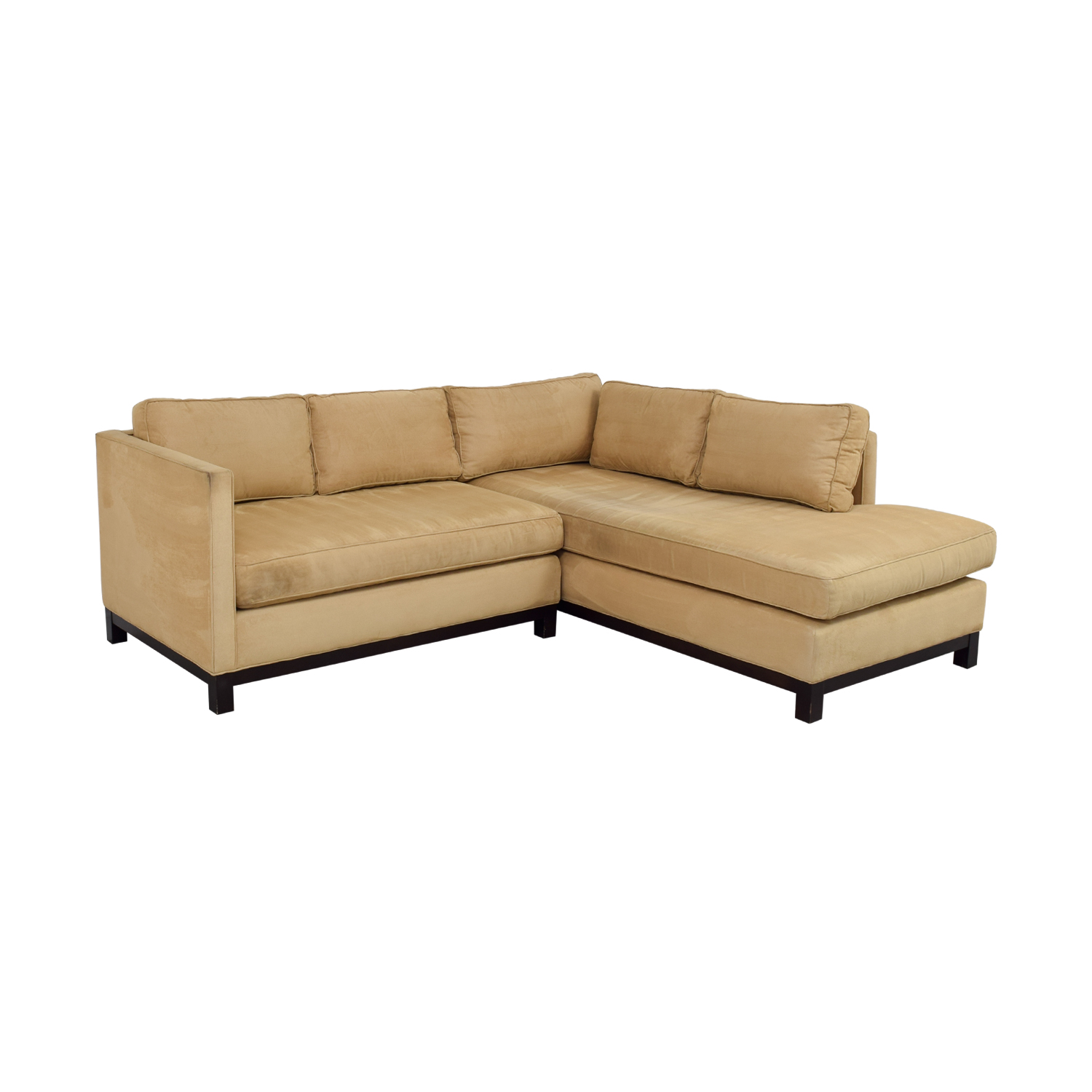 Mitchell Gold + Bob Williams Mitchell Gold + Bob Williams Clifton Honey Suede Sectional on sale