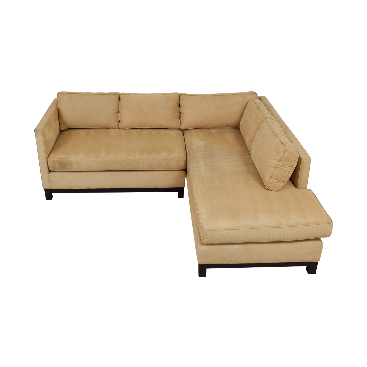 Mitchell Gold + Bob Williams Clifton Honey Suede Sectional sale