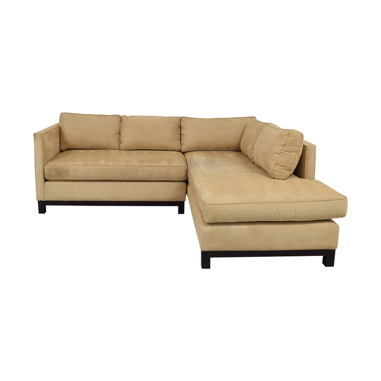 Mitchell Gold + Bob Williams Mitchell Gold + Bob Williams Clifton Honey Suede Sectional nyc