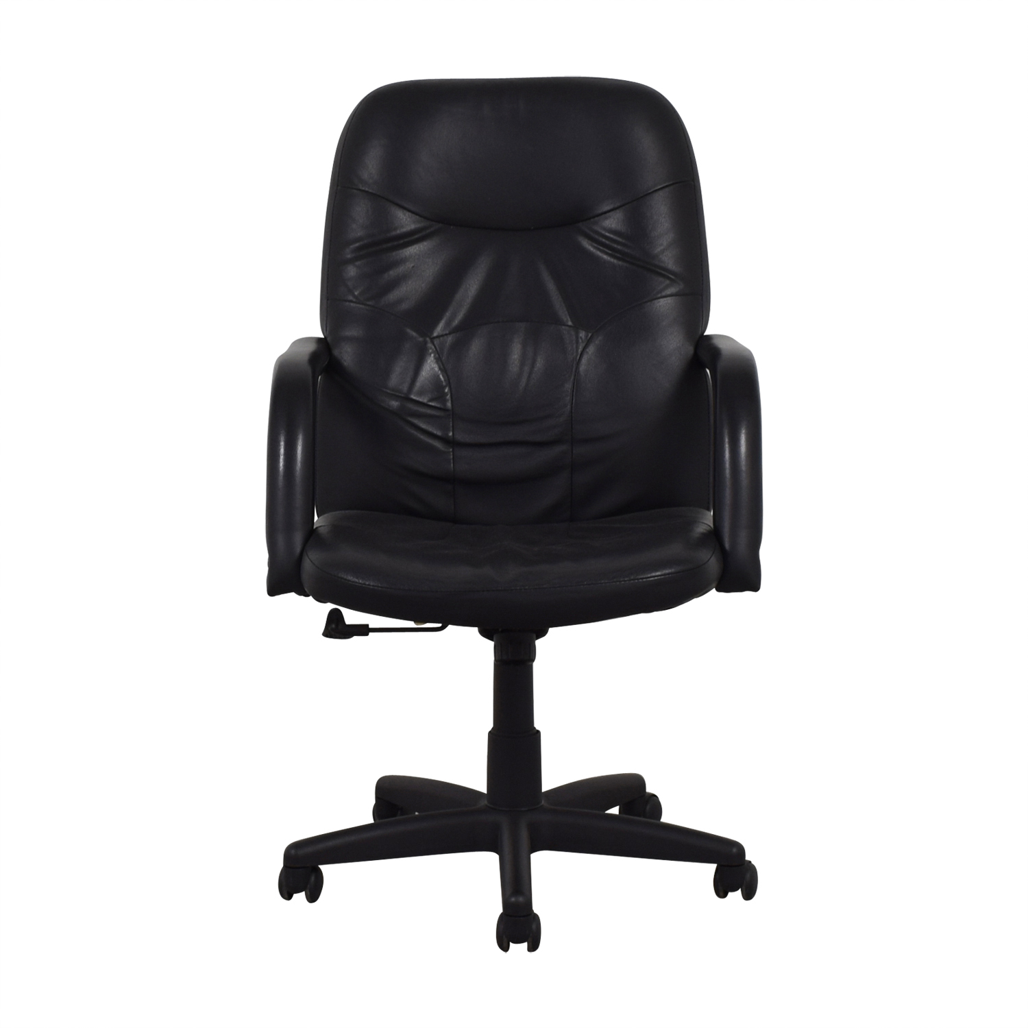 bceb1794906 87% OFF - Raymour   Flanigan Raymour   Flanigan Black Office Chair ...