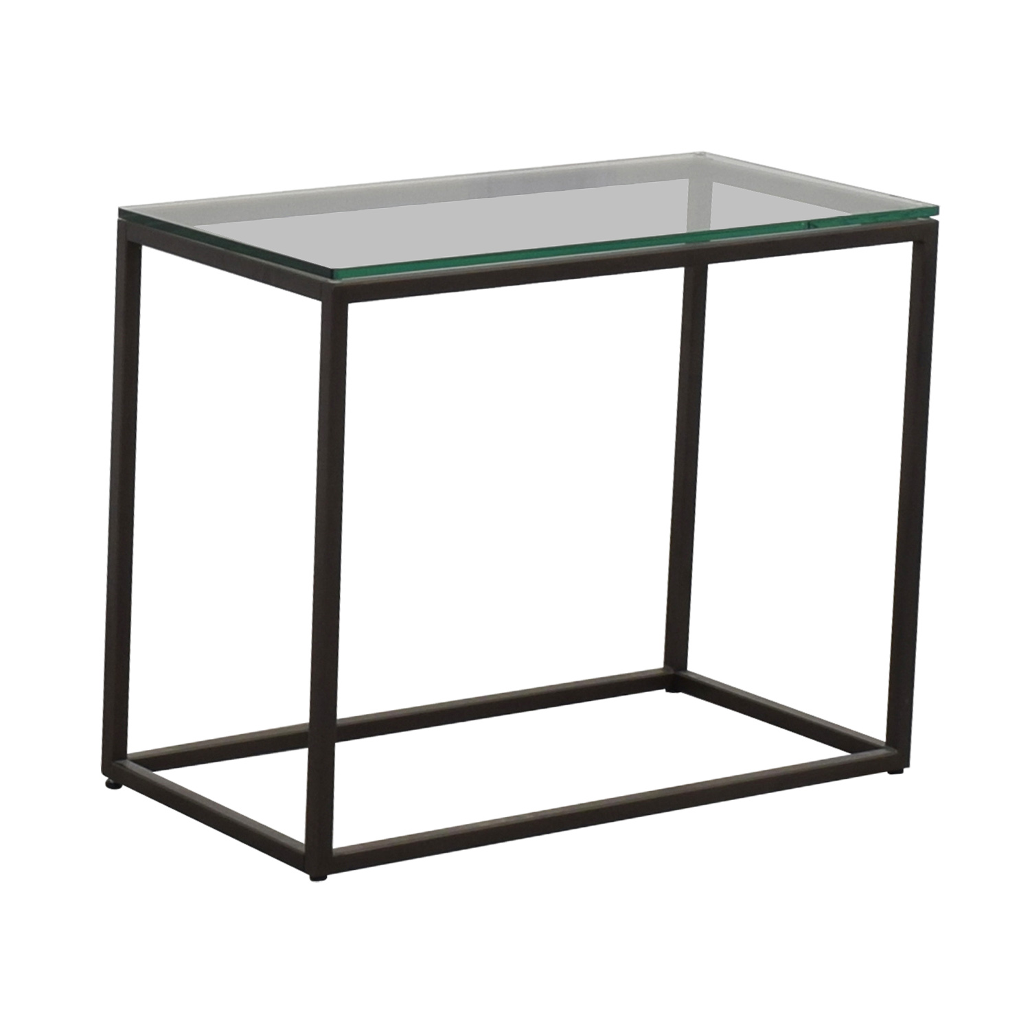 West Elm West Elm Glass Box Frame Side Table coupon