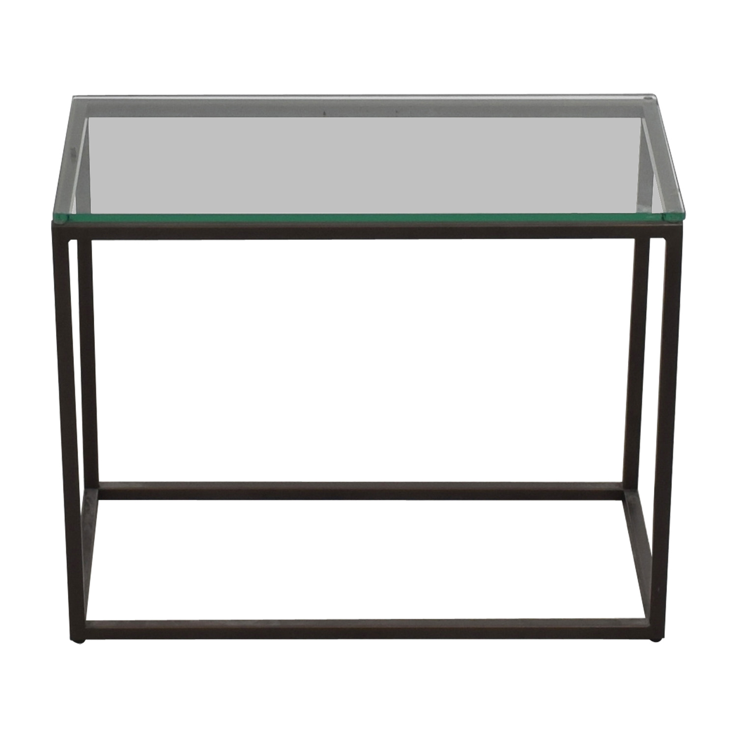 West Elm West Elm Glass Box Frame Side Table price