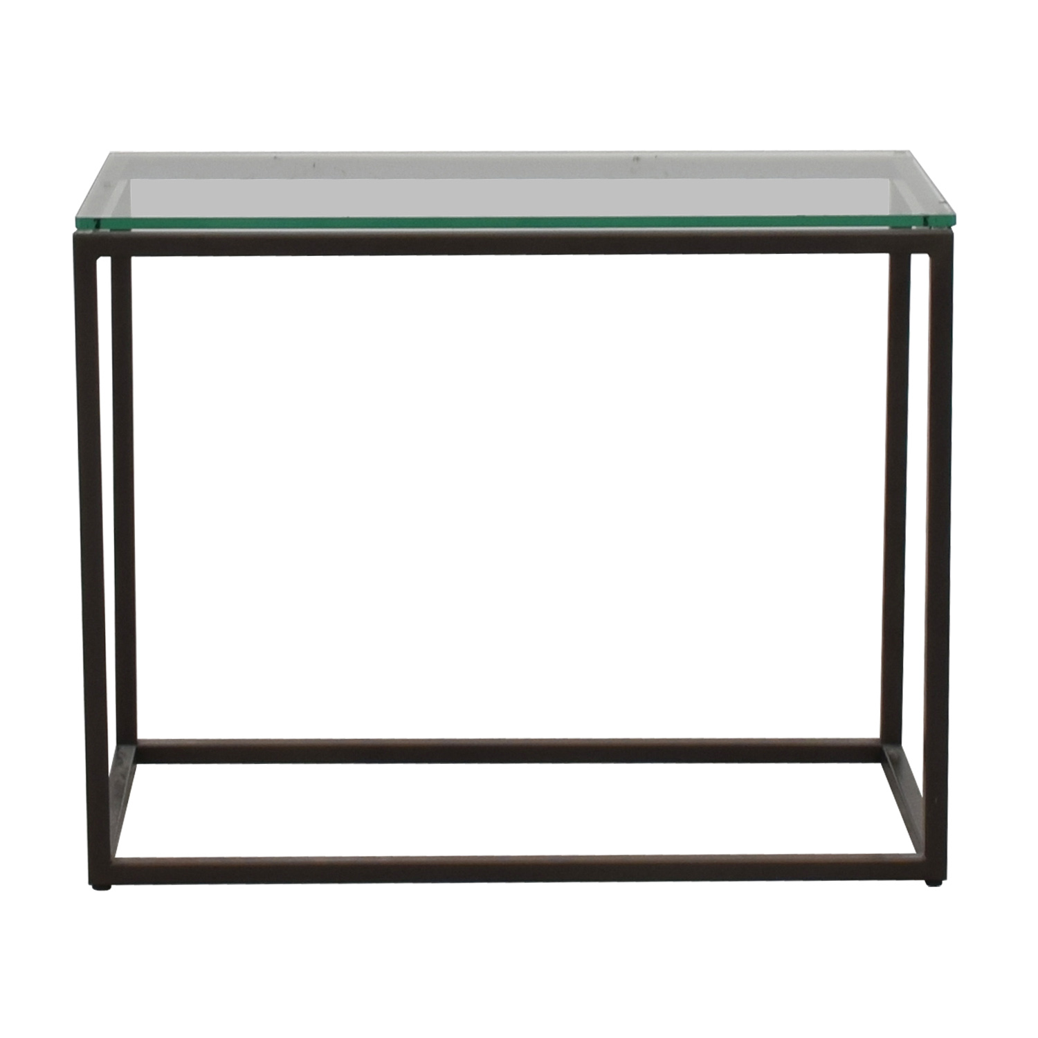 West Elm West Elm Glass Box Frame Side Table for sale