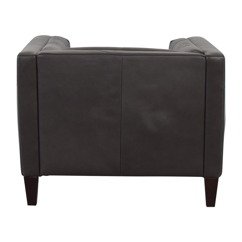 Raymour & Flanigan Bartolo Leather Armchair / Chairs