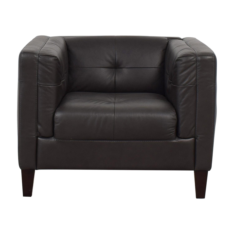 Raymour & Flanigan Raymour & Flanigan Bartolo Leather Armchair discount