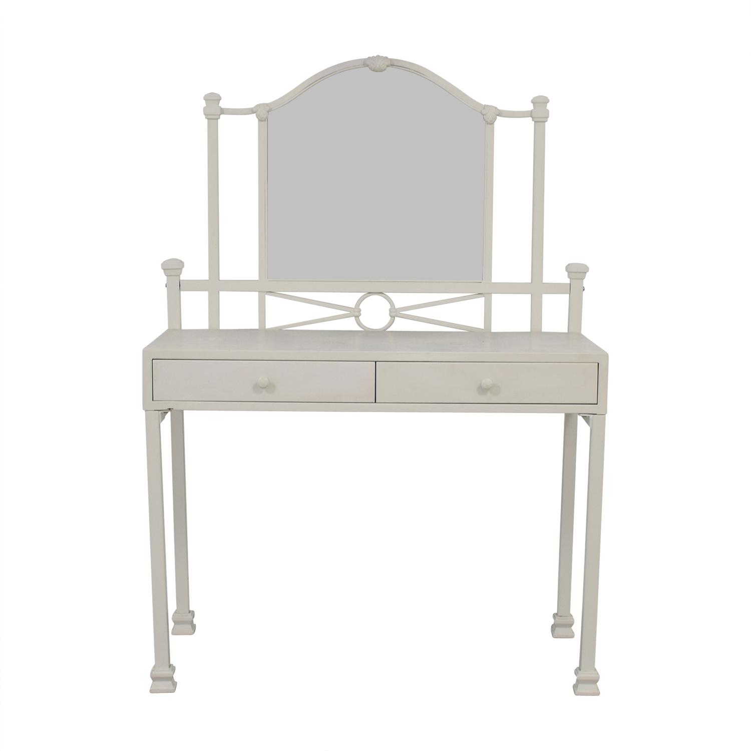 Pottery Barn Pottery Barn Teen Meadow White Two-Drawer Vanity Table nj