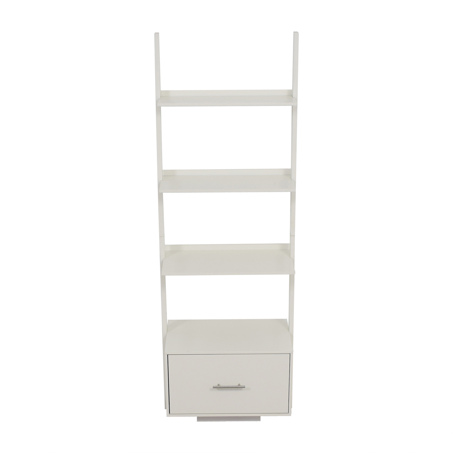 buy AllModern AllModern White Leaning Bookcase with File Drawer online