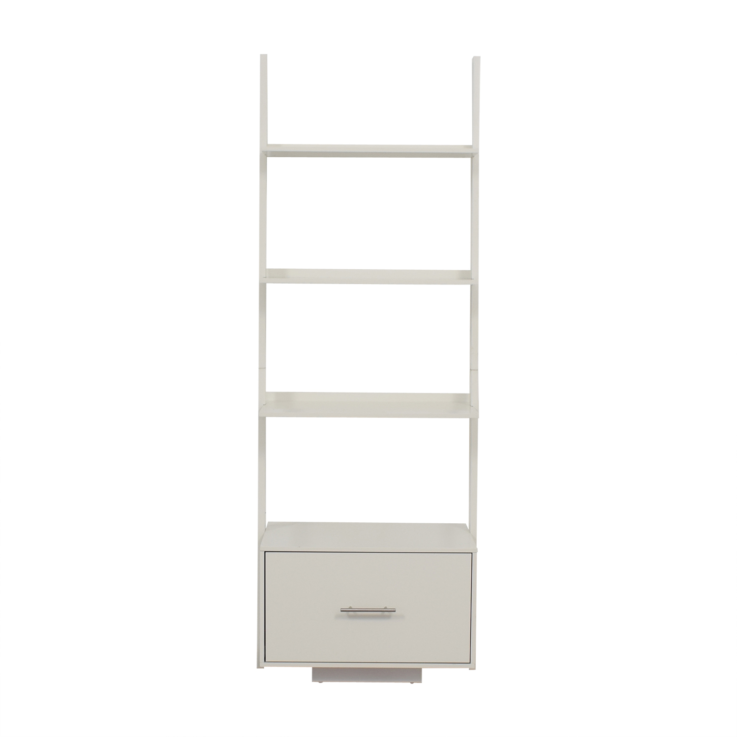 AllModern AllModern White Leaning Bookcase with File Drawer dimensions