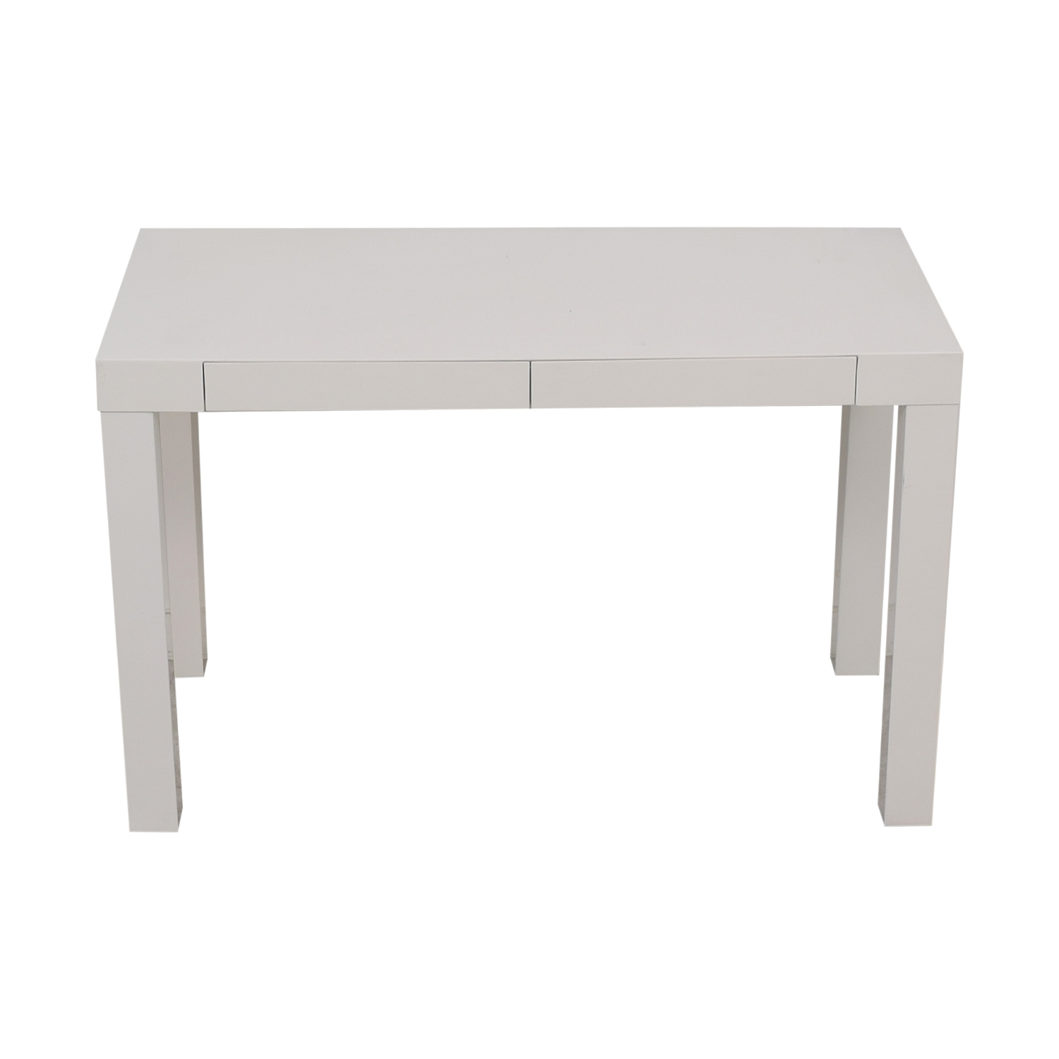 buy West Elm West Elm Parsons White Two-Drawer Desk online