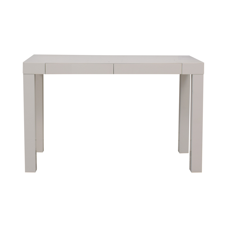 West Elm West Elm Parsons White Two-Drawer Desk