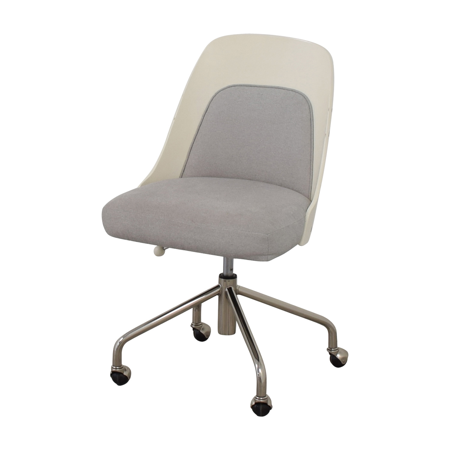 west elm office chair. Shop West Elm Bentwood White And Grey Office Chair Chairs