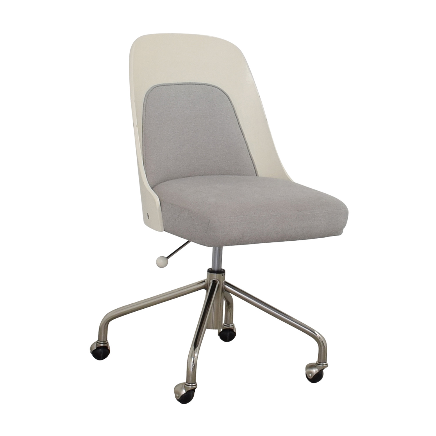West Elm Bentwood White And Grey Office Chair