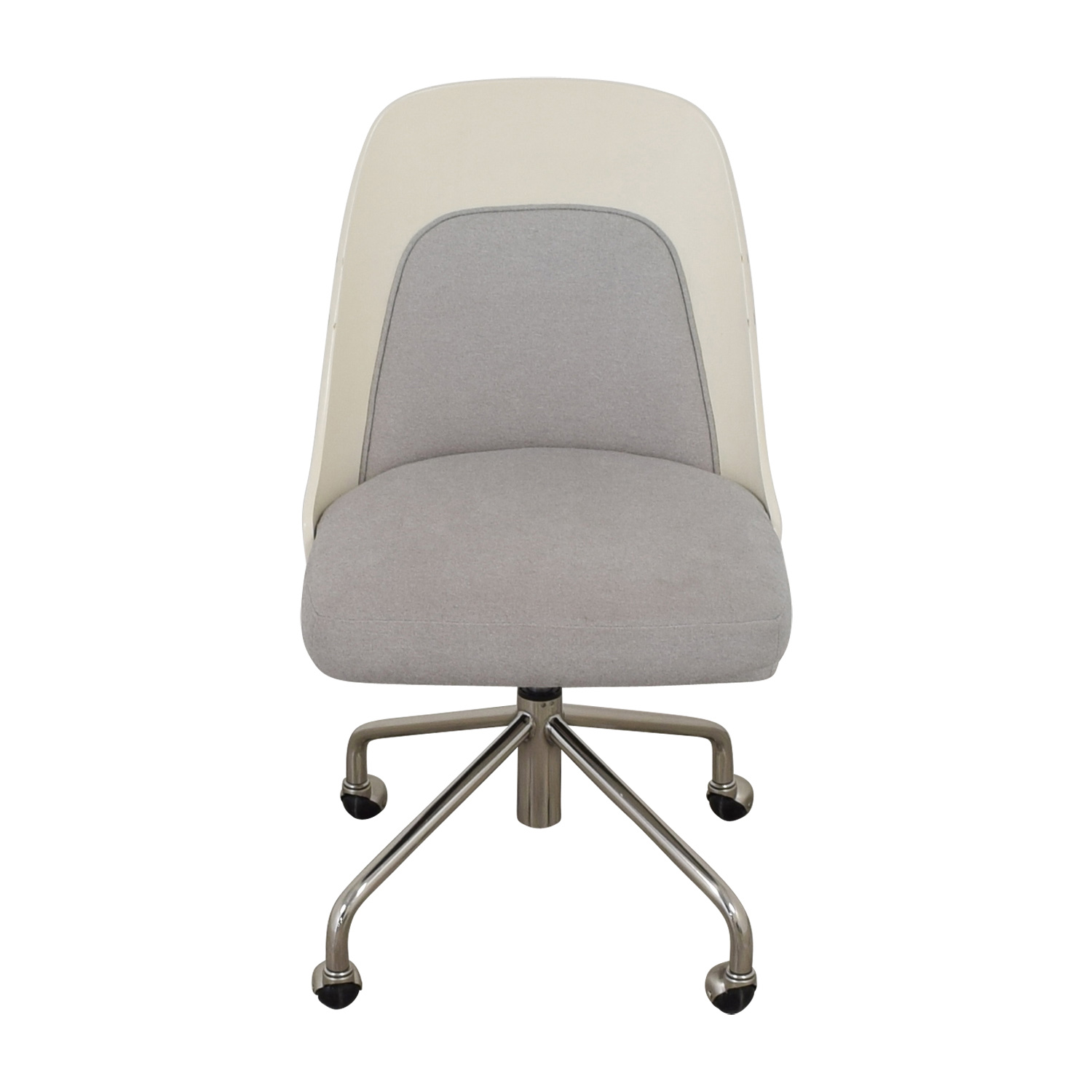 stunning west elm office chair | 73% OFF - West Elm West Elm Bentwood White and Grey Office ...