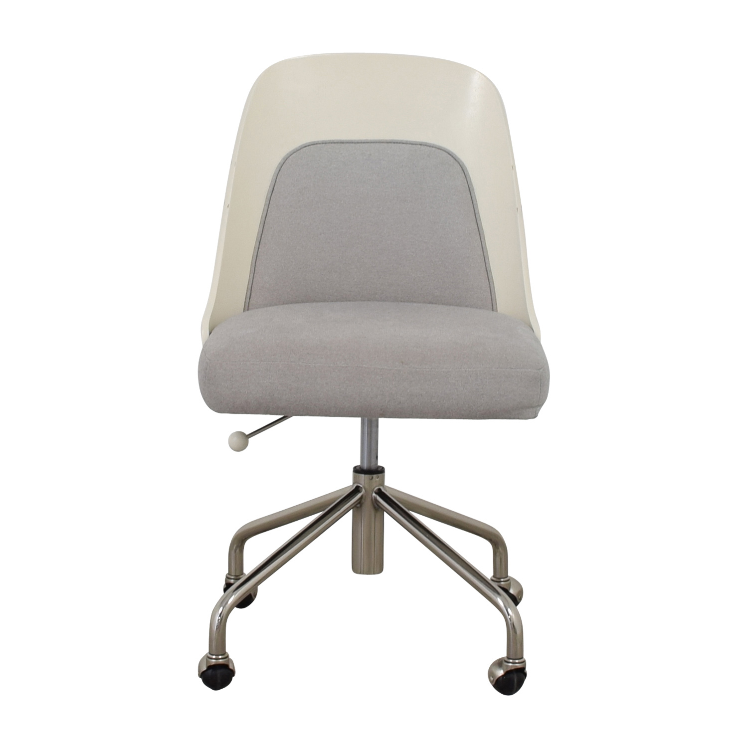 73% OFF   West Elm West Elm Bentwood White And Grey Office Chair / Chairs