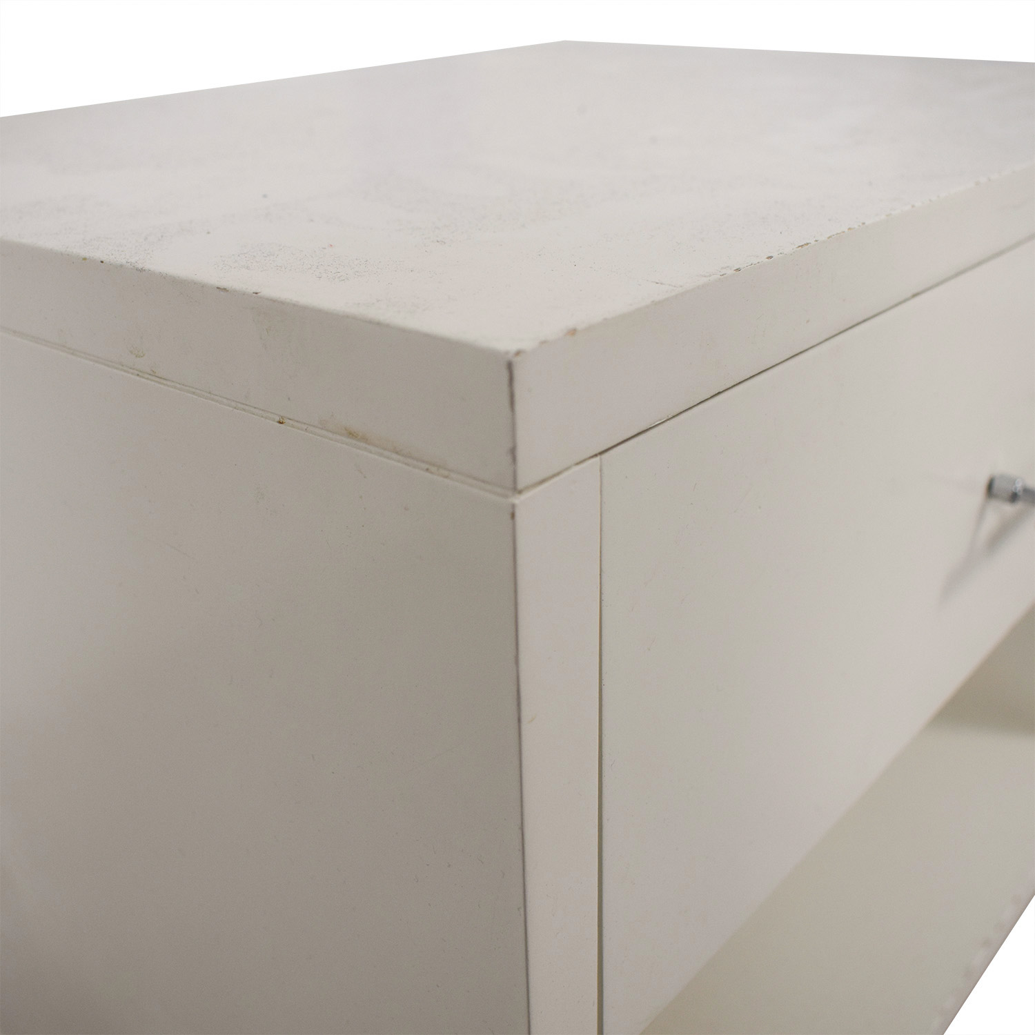 buy West Elm White Single Drawer Nightstand West Elm End Tables