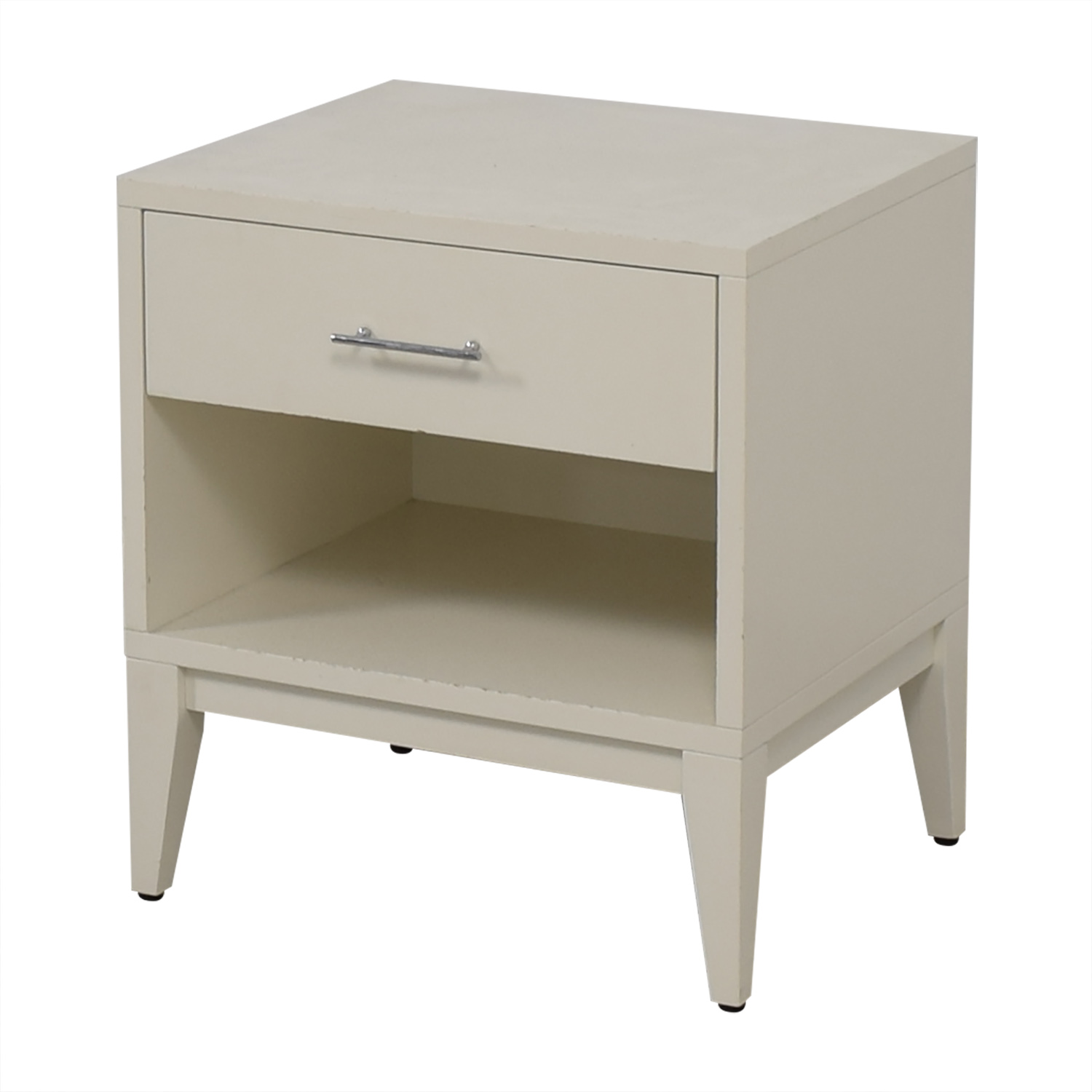 West Elm West Elm White Single Drawer Nightstand