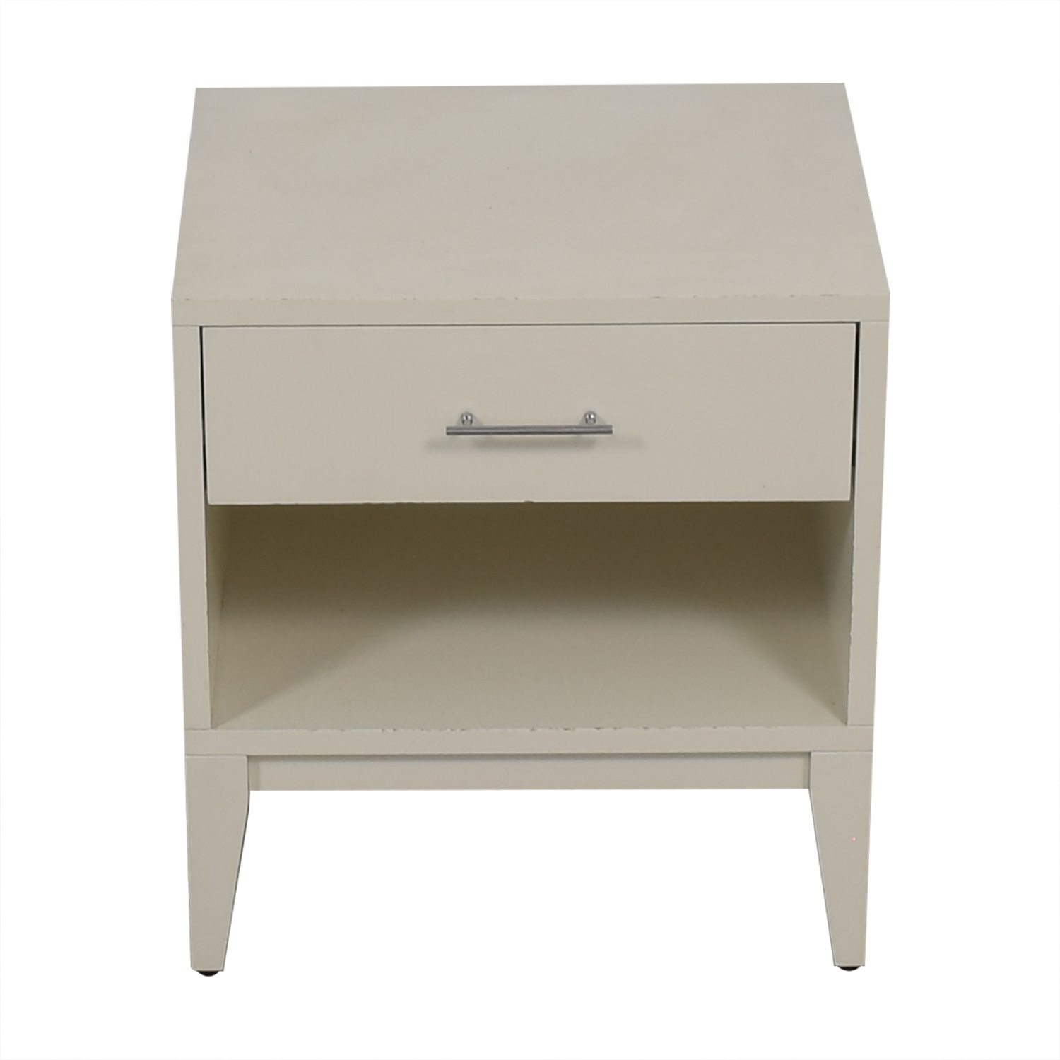 West Elm White Single Drawer Nightstand sale