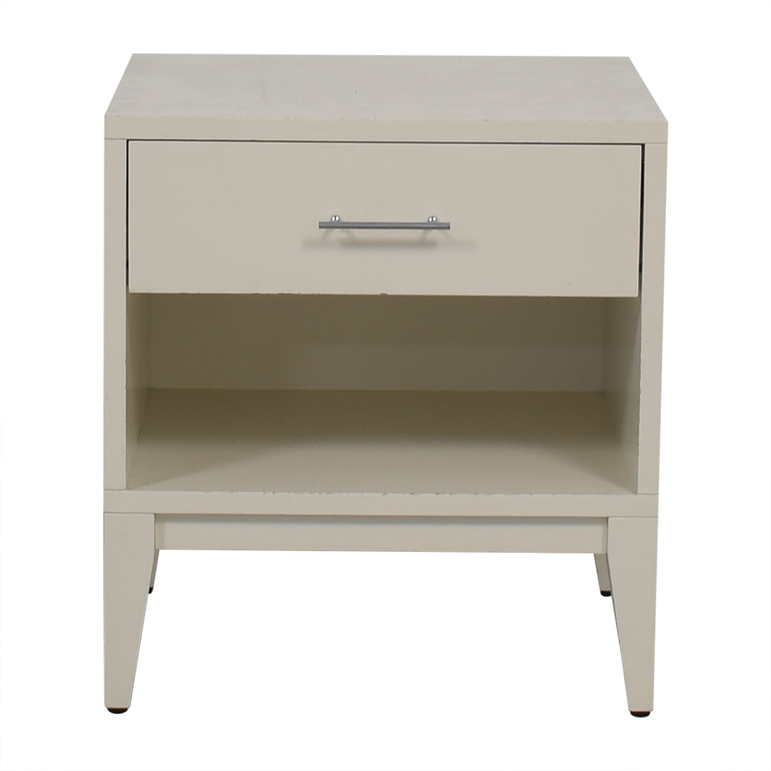 West Elm West Elm White Single Drawer Nightstand End Tables